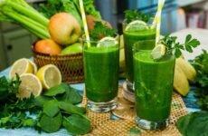 Польза и состав зеленых коктейлей